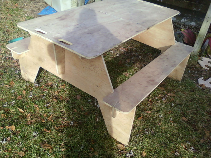 Travel PICNIC TABLE Plans camping portable FULL SIZE rv | eBay